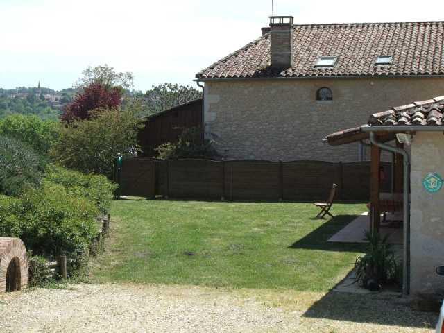 private lawn area